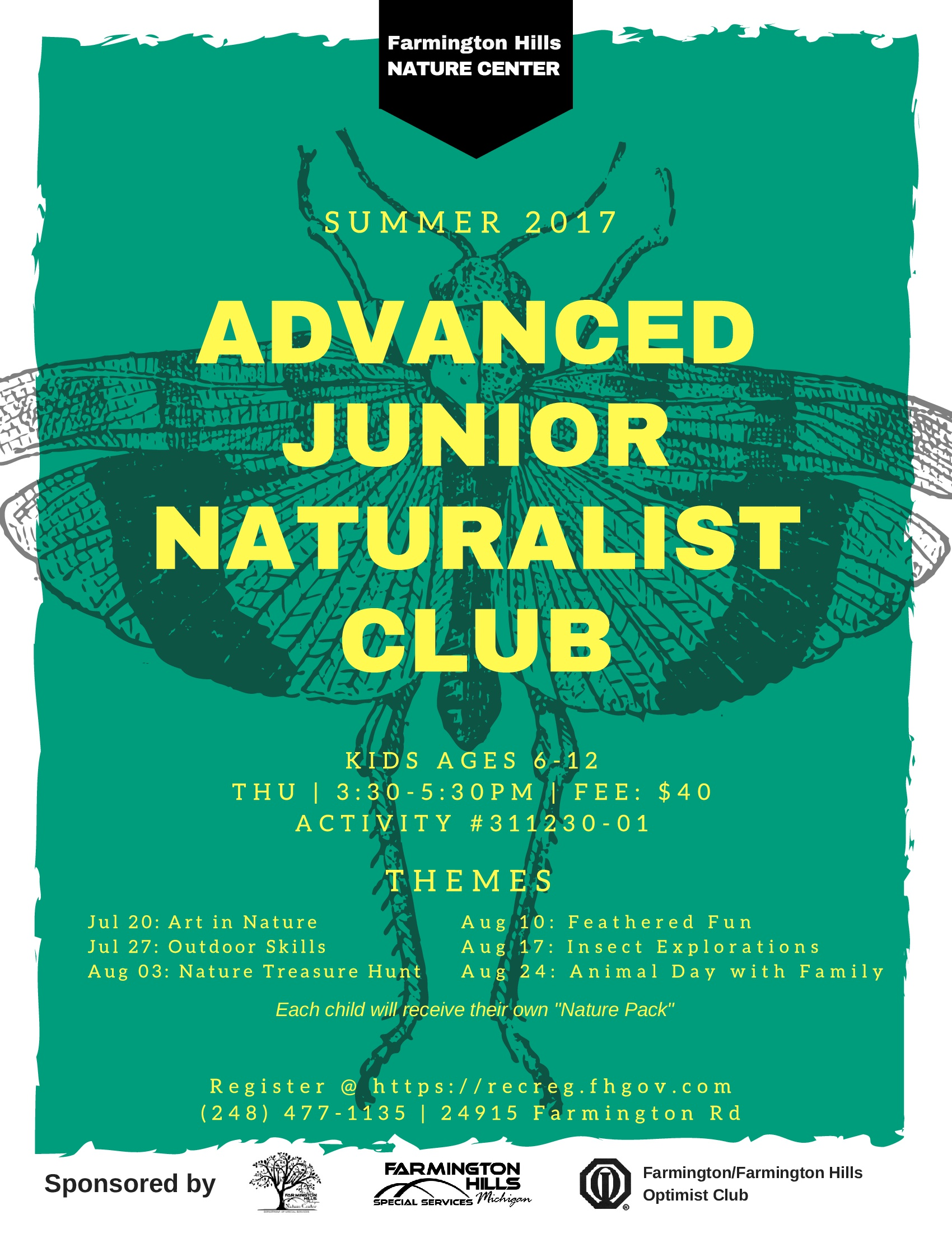 Advanced Junior Naturalist Club 2017