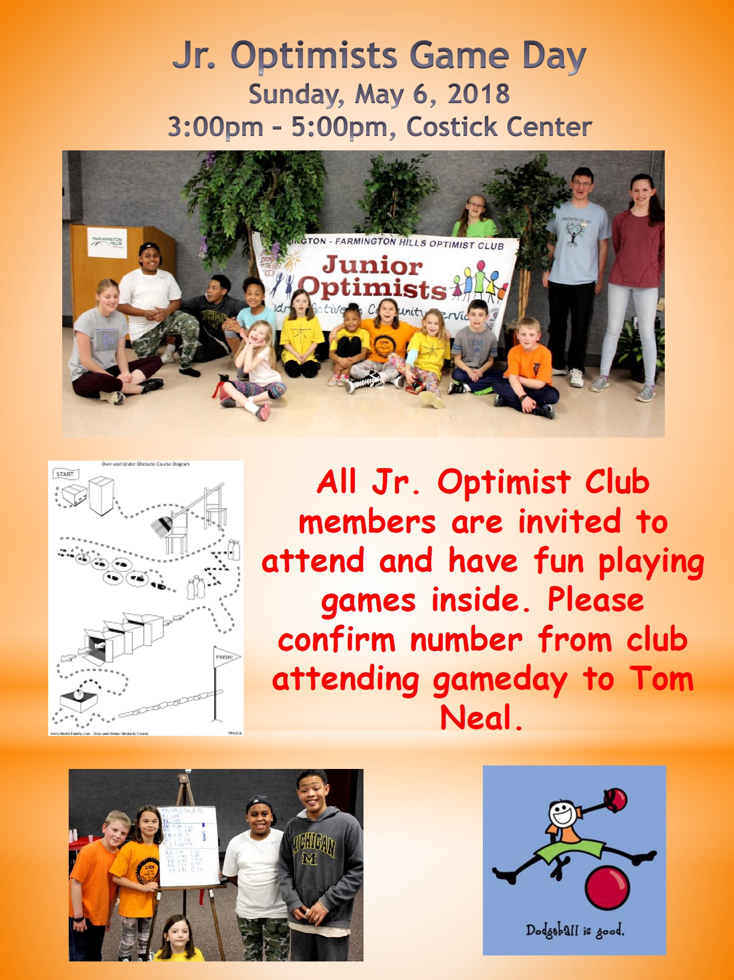 Junior Optimists Game Day 2018 Flyer