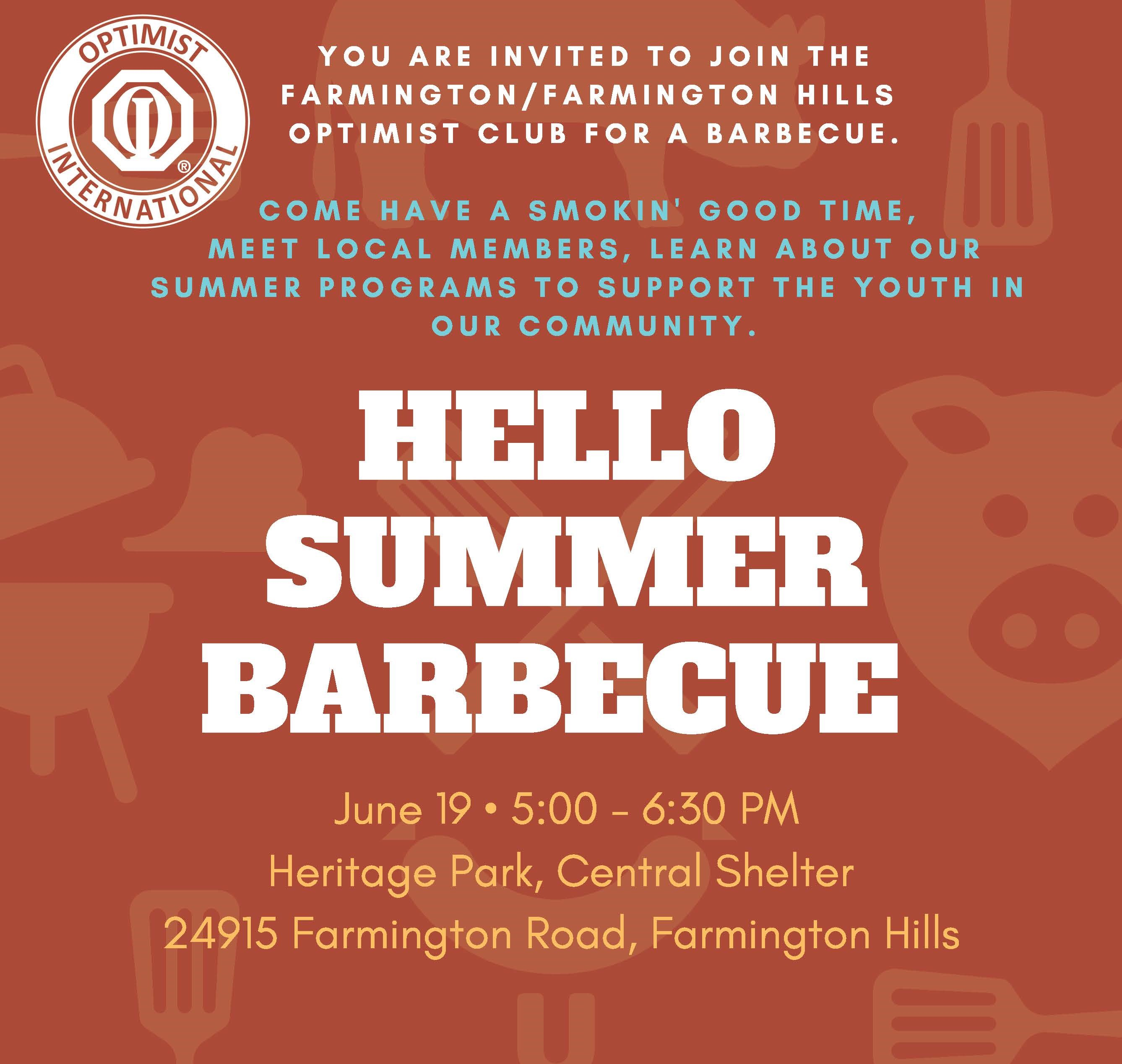 Optimist NOW BBQ June 19 2019
