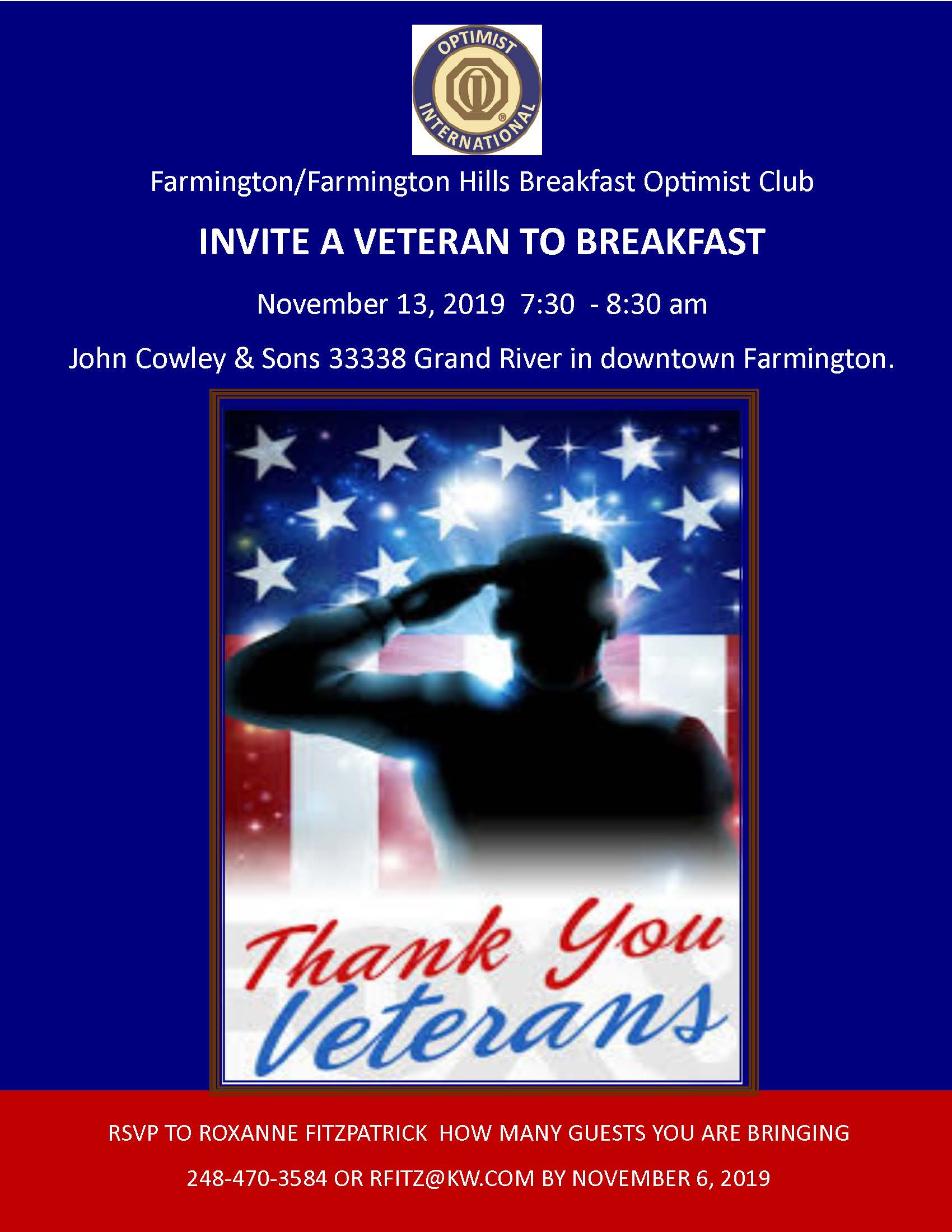 Veterans Breakfast Nov 13 2019